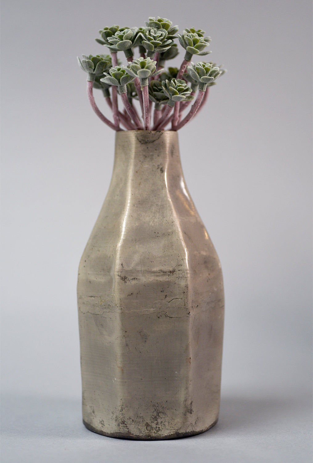 Iron Vase, Medium, Antique Silver