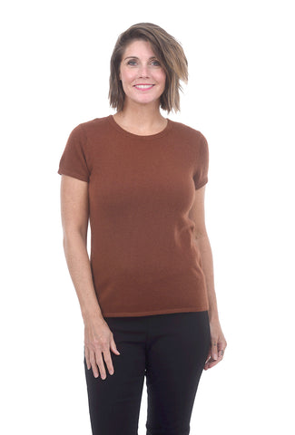 Classic Cashmere Tee, Rust