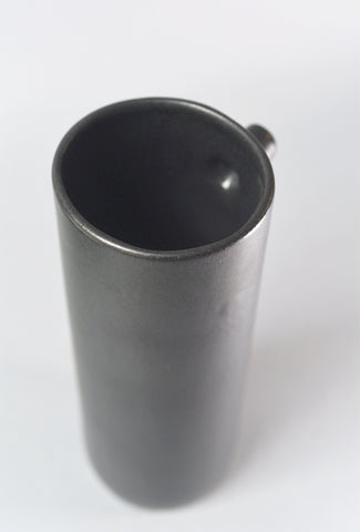 Ceramic Vase With Spout, Small, Black