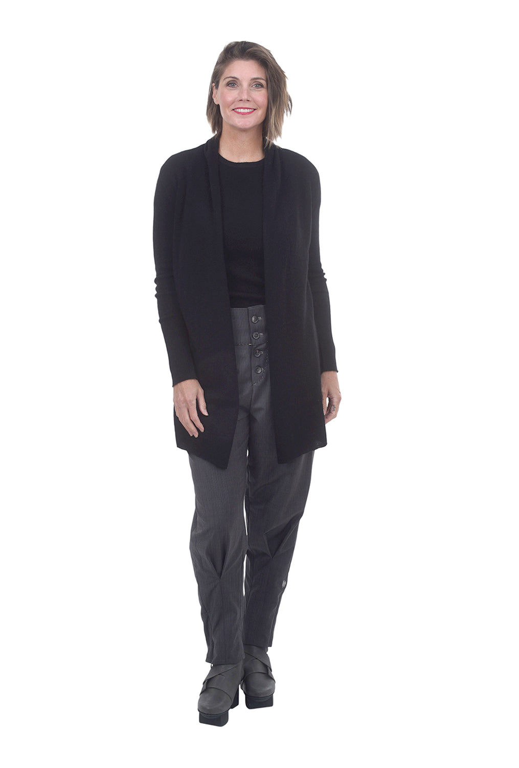 Classic Cashmere Cardie, Black