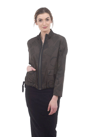 Shirley Printed Jacket, Olivine