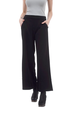 Adia Flared Pants, Black