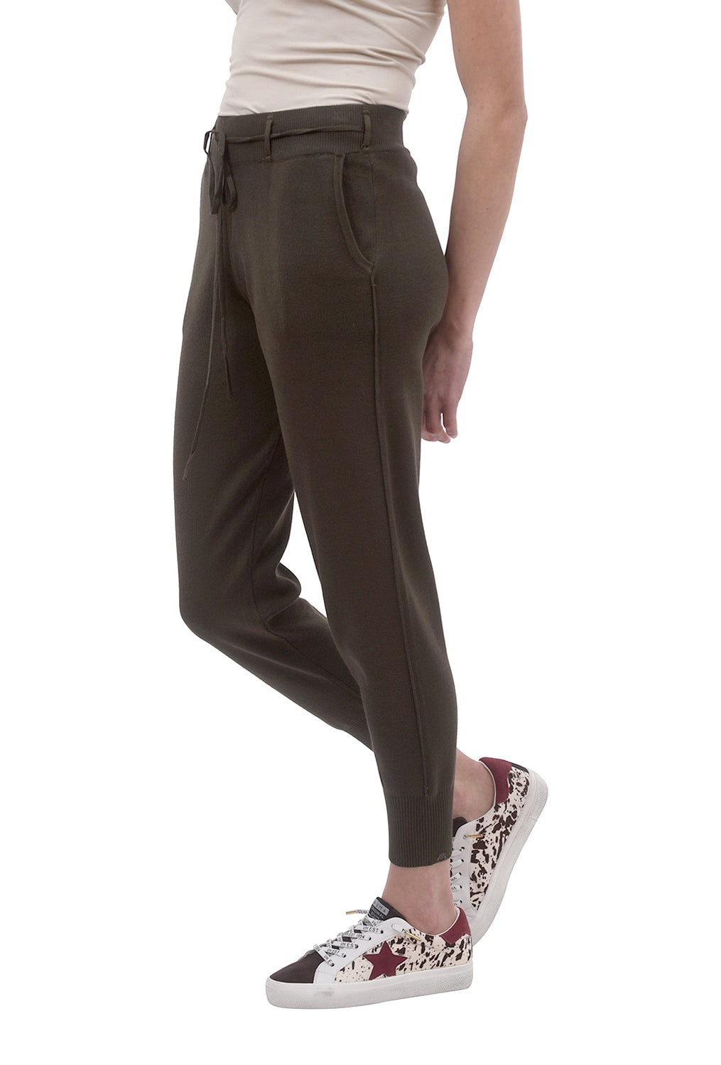 Gina Knitted Pants, Army