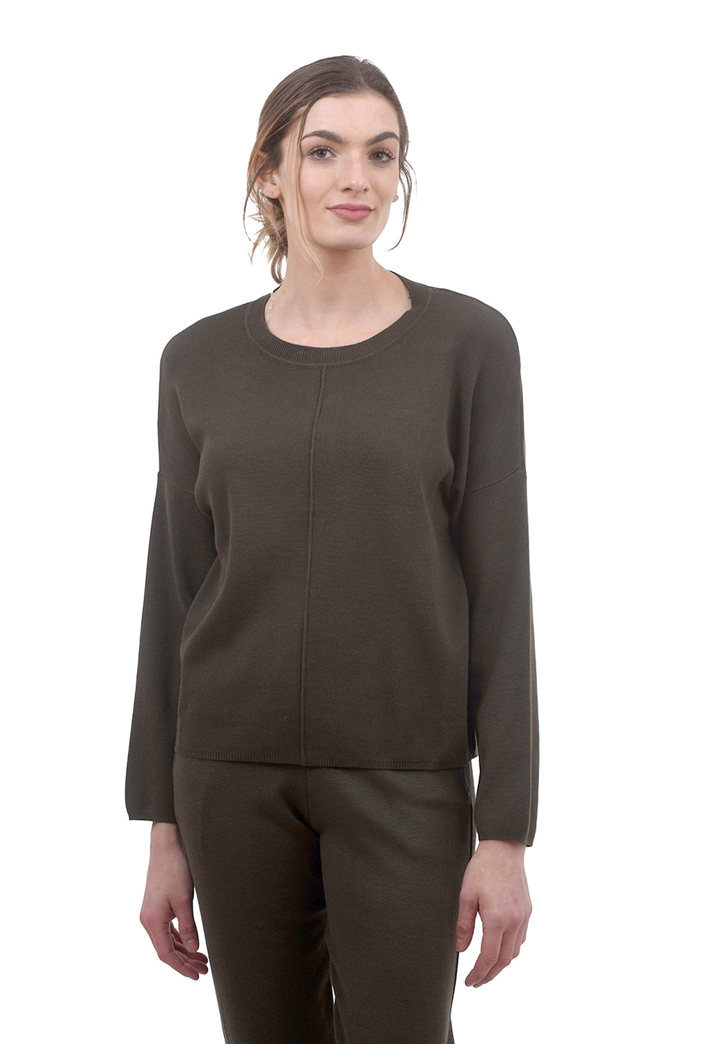 Gina Knitted Top, Army