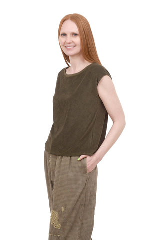 Cap-Sleeve Easy Top, Kelp
