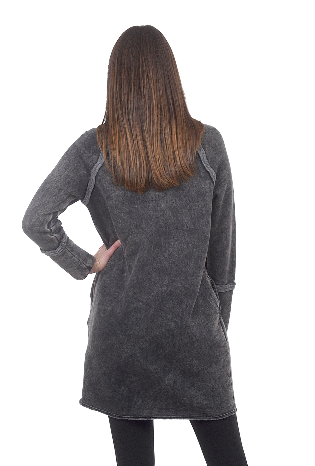 Quinn Fleece Dress, Black