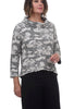 Abstract Jacquard Pullover, Putty