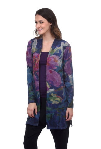 Plush Colorful Cardie, Violet