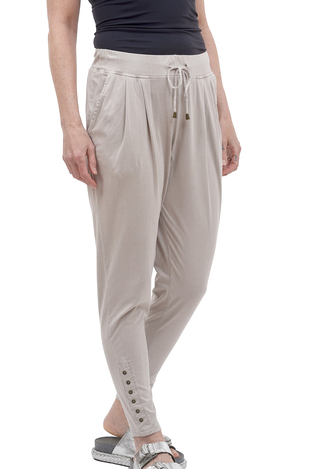Tapered Knit Jogger, Gray