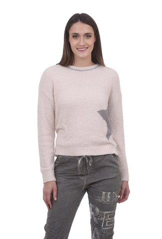 Cozy Star Pullover, Blush