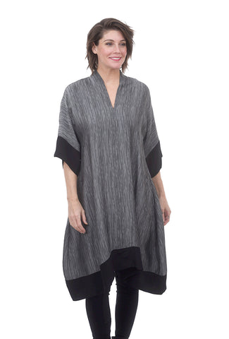 Silk Plunge Moon Dress, Silver