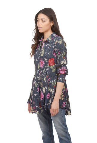 Crinkle Cotton Tunic, Magical Indigo