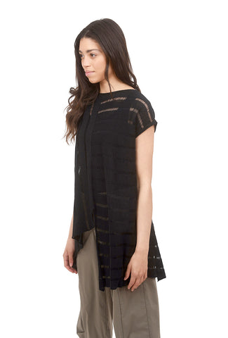 Ladder Stitch Sweater, Black