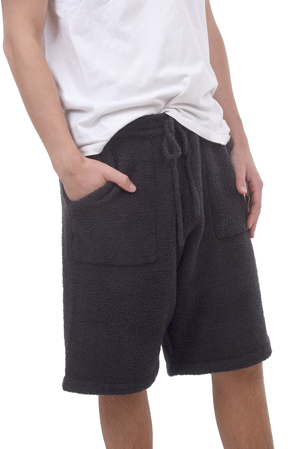 Cozychic Men's Lounge Shorts, Carbon