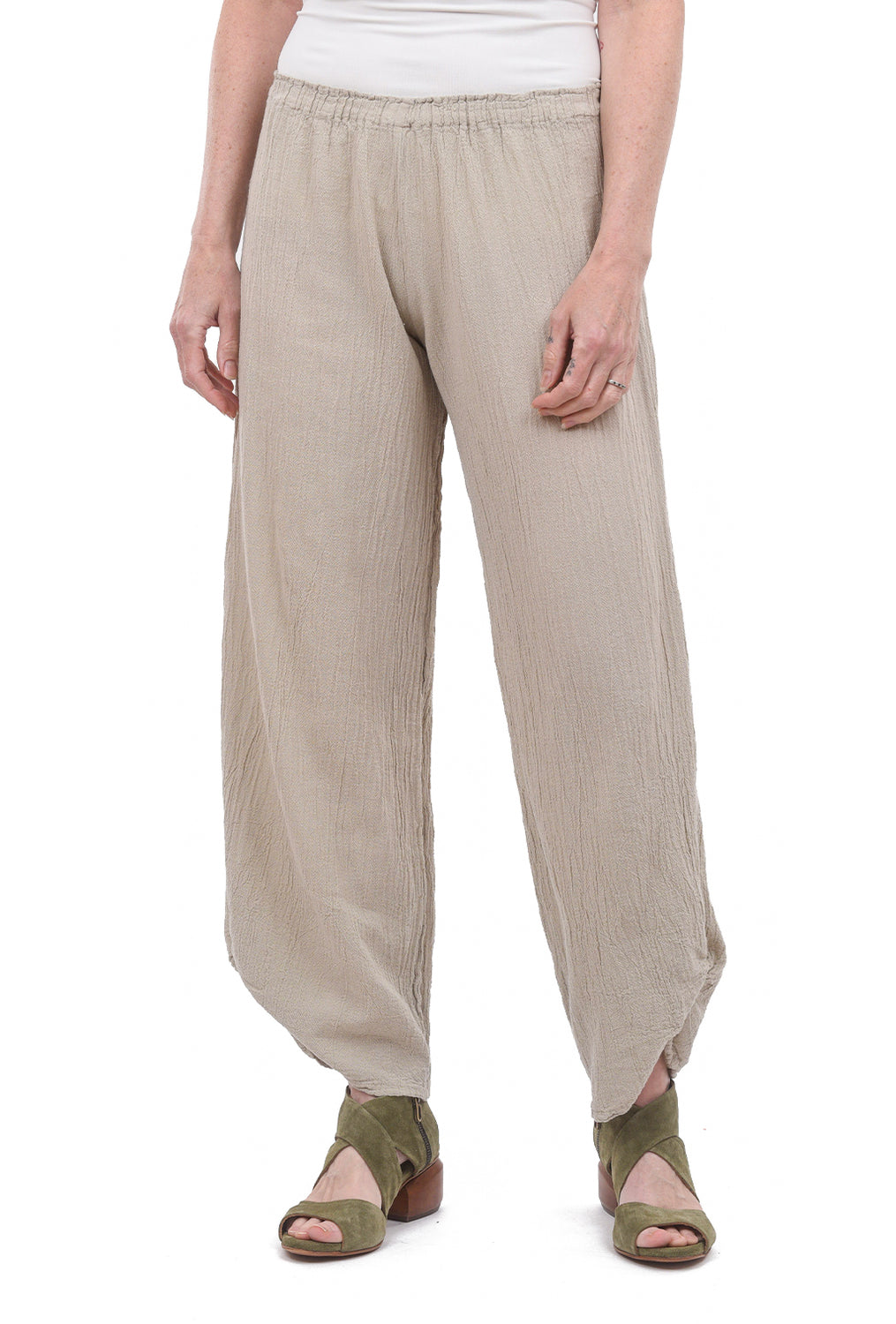 Polo Ankle Shirred Pant, Rye
