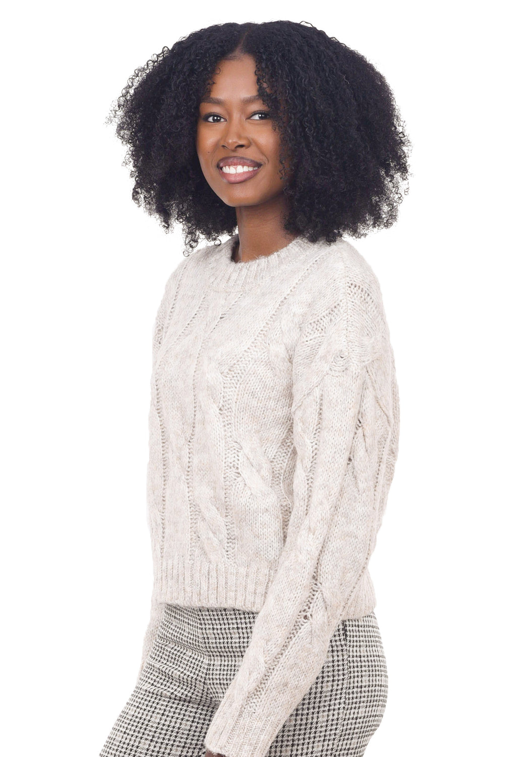 Chunky Cropped Sweater, Natural