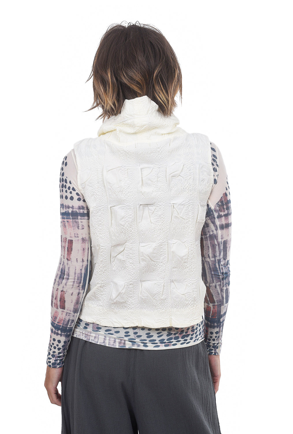 Windowpane Aria Vest, Winter White