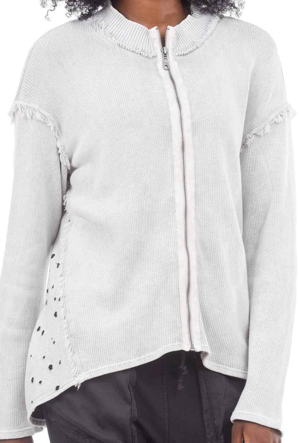 Sofia Zip Up Cardigan, Bone