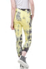 Tie-Dye Drawstring Jogger Pants, Yellow Radioactive