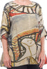 3P Woven Abstract Tunic, Khaki