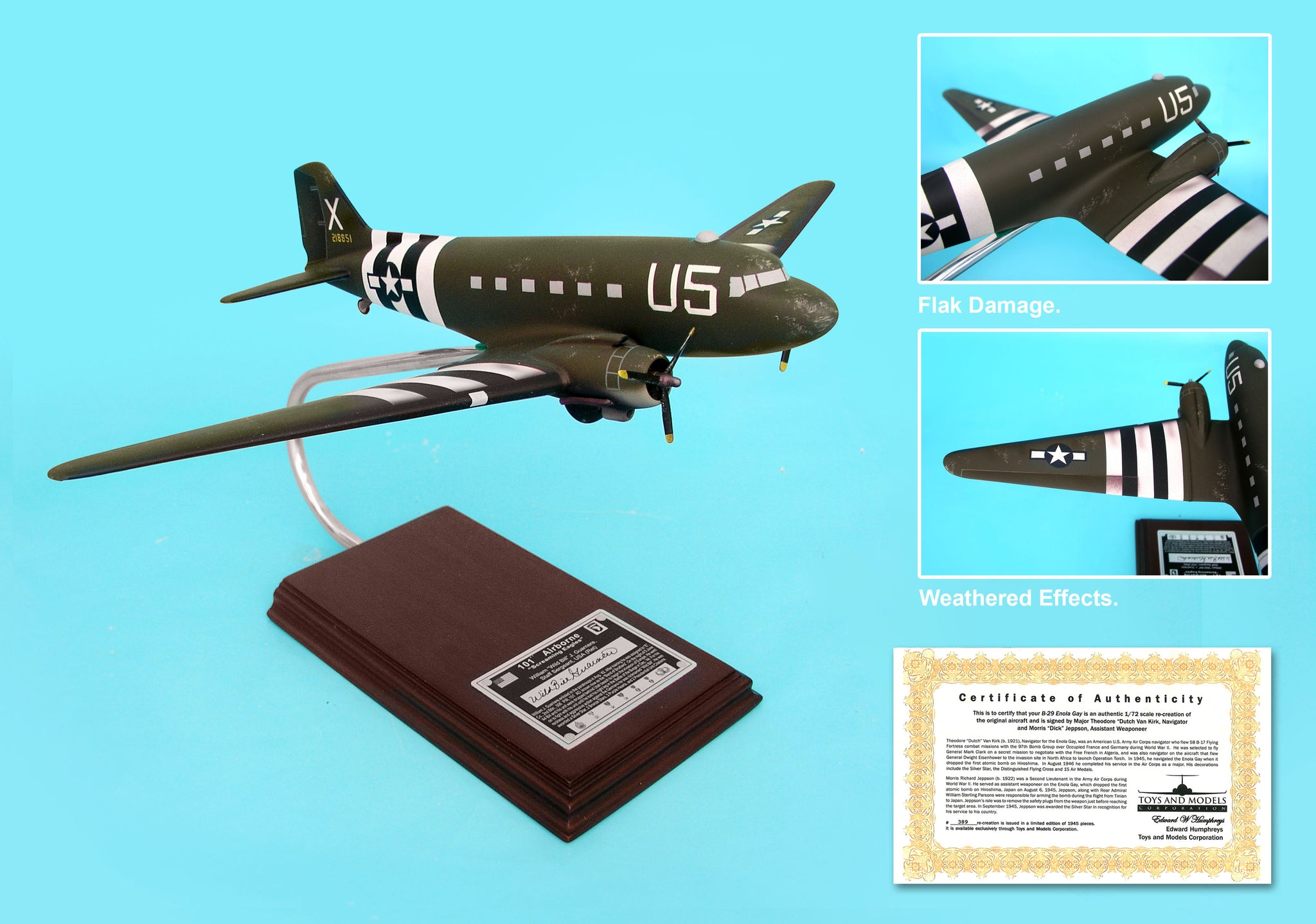A1672 EXEC SER C-47 BAND OF BROTHERS WILLIAM GUARNERE 1/62