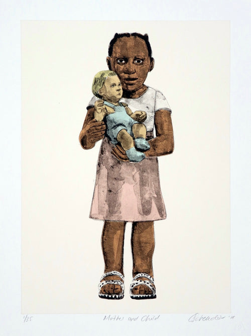 Claudette Schreuders Mother and Child Lithograph Print