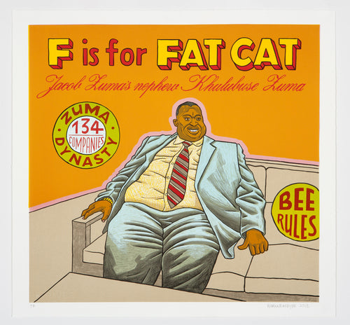 F is for Fatcat, Anton Kannemeyer, Bitterkomix, Alphabet of Democracy
