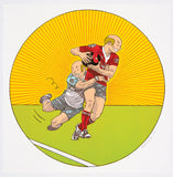 Rugby Anton Kannemeyer Lithograph Print