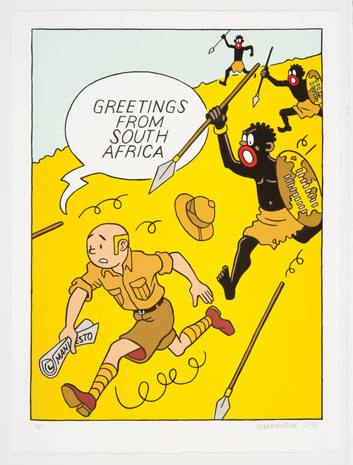 Greetings from South Africa, Tintin, Anton Kannemeyer, Bitterkomix
