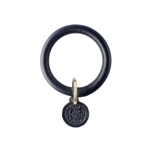 Signature Leather Keyring Bracelet - Black