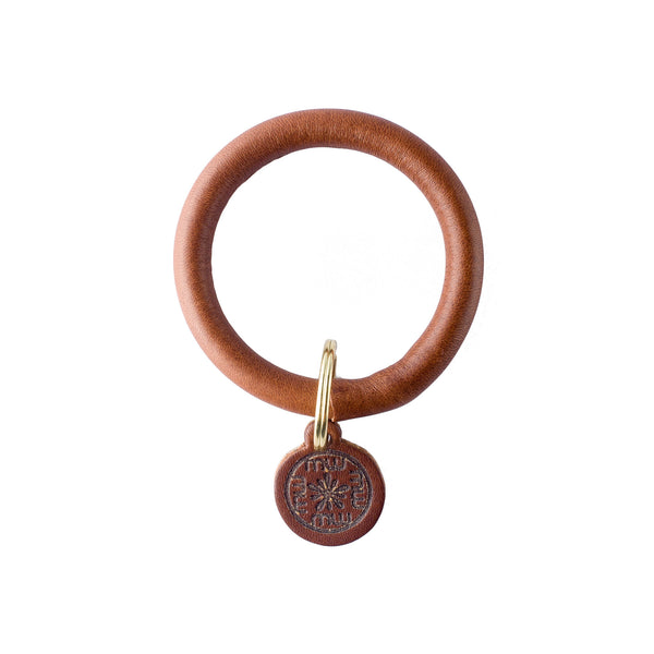 Signature Leather Keyring bracelet - Brown