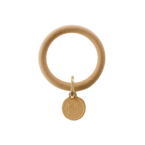 Signature Leather Keyring Bracelet - Camel