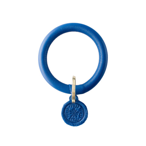 Signature Leather Keyring Bracelet - Royal Blue