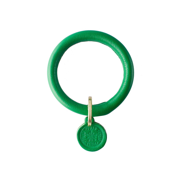 Signature Leather Keyring Bracelet - Kelly Green