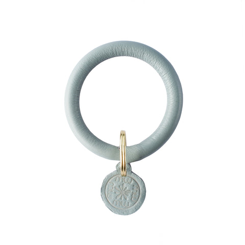 Signature Leather Keyring Bracelet - Gray