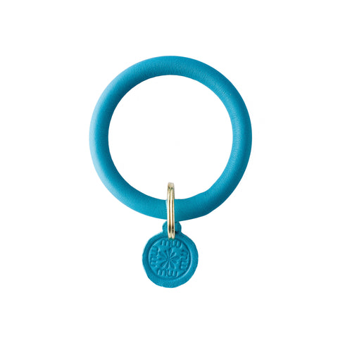 Signature Leather Keyring Bracelet - Turquoise