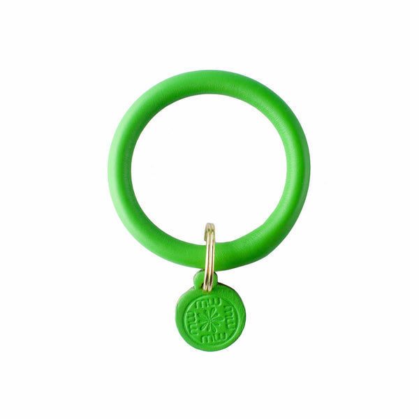 Signature Leather Keyring Bracelet - Kiwi Green