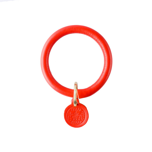 Signature Leather Keyring Bracelet - Orange