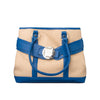Large Burlap Handbag - Royal Blue