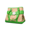 Large Burlap Handbag - Green