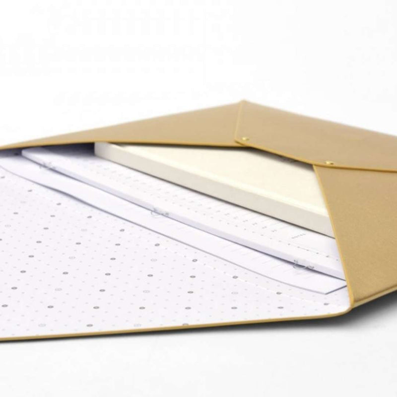 Vegan Leather Document Holder · Gold