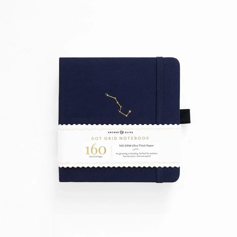Night Sky Dot Grid Notebook · Square