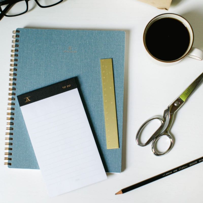 Lined Notebook · Chambray Blue