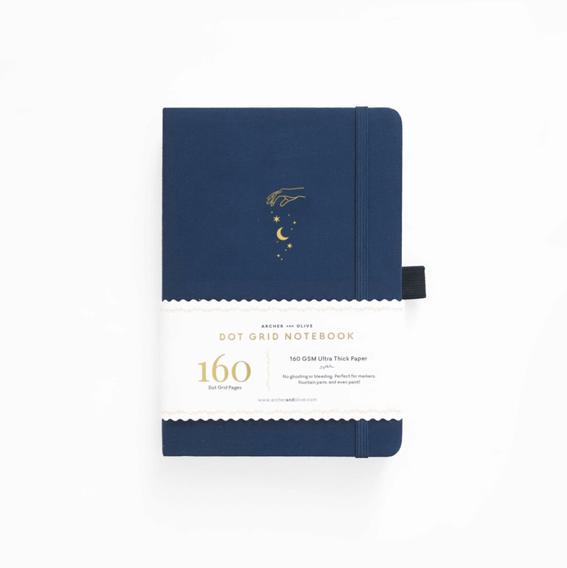 Stardust Gold-Gilded Dot Grid Notebook · A5