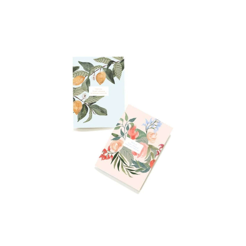 Set of 2: Floral Notebooks