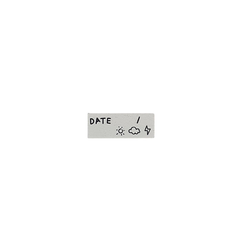Date Rubber Stamp - Bujoish