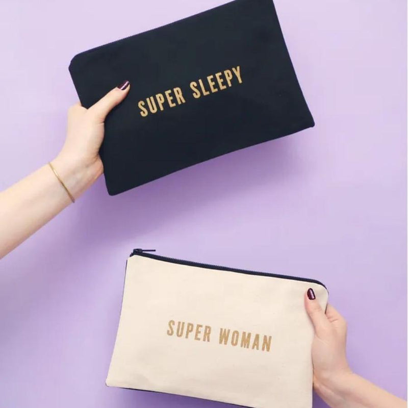 Super Sleepy / Super Woman · Double-sided Pouch