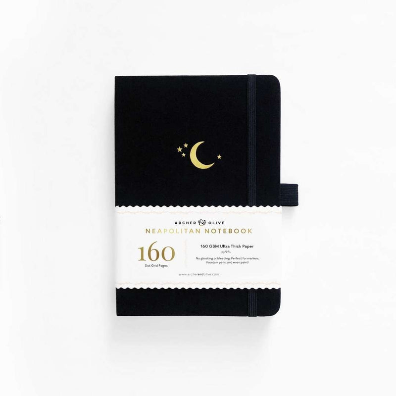 Neapolitan · Crescent Moon Dot Grid Notebook · A5