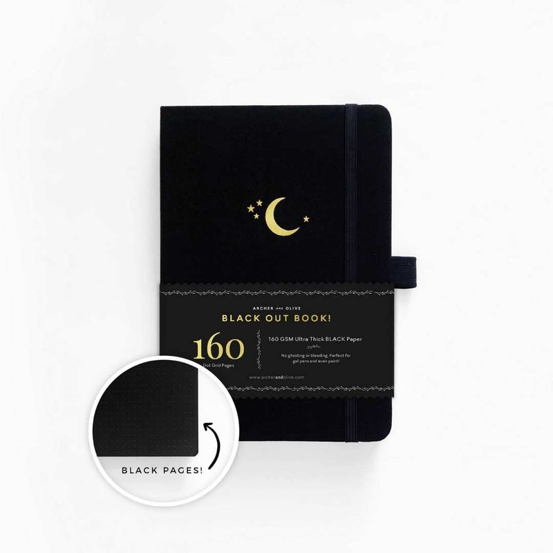 Blackout! · Crescent Moon Dot Grid Notebook · A5