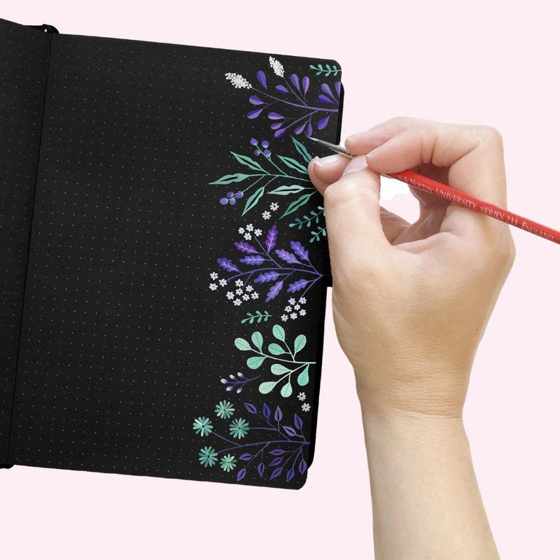 Blackout! - Crescent Moon Dot Grid Notebook - A5 - Bujoish